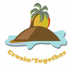 Crusin Together embroidery design