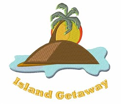 Island Getaway embroidery design