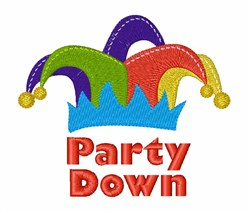 Party Down embroidery design