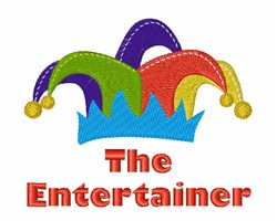 The Entertainer embroidery design
