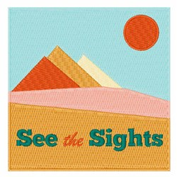 See The Sights embroidery design