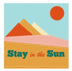 Stay In Sun embroidery design