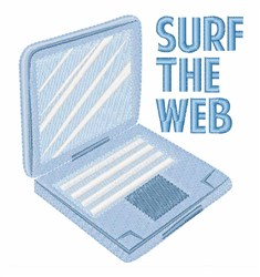 Surf The Web embroidery design