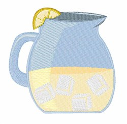 Lemonade Pitcher embroidery design