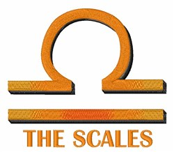 The Scales embroidery design