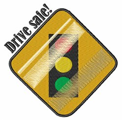 Drive Safe embroidery design