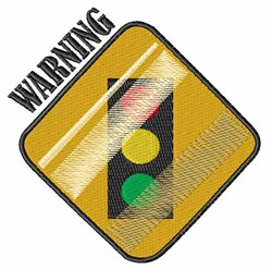 Warning embroidery design