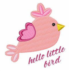 Hello Bird embroidery design