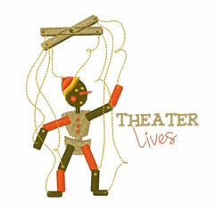 Theater Lives embroidery design