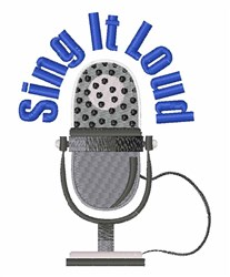 Sing It Loud embroidery design