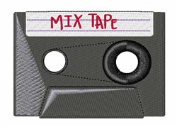 Mix Tape embroidery design