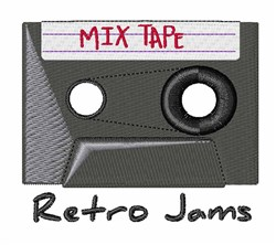 Retro Jams embroidery design