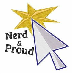 Nerd & Proud embroidery design