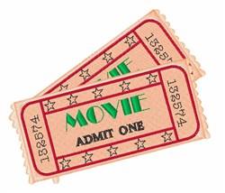 Movie Ticket embroidery design