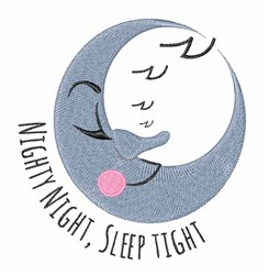 Sleep Tight embroidery design