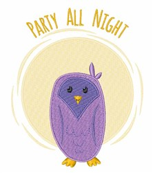 Party All Night embroidery design