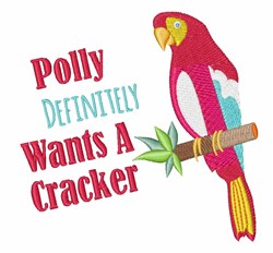 Want A Cracker embroidery design