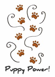 Puppy Power embroidery design