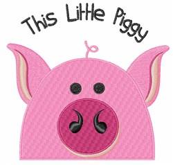 Little Piggy embroidery design