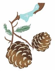 Winter Pine Cone embroidery design