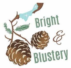 Bright & Blustery embroidery design