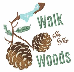 Walk In Woods embroidery design