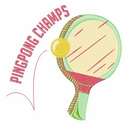 Ping Pong Champs embroidery design