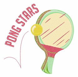 Pong Stars embroidery design