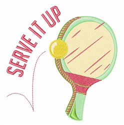 Serve It Up embroidery design