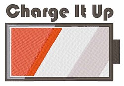 Charge It Up embroidery design