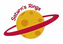 Saturns Rings embroidery design
