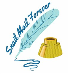 Snail Mail embroidery design