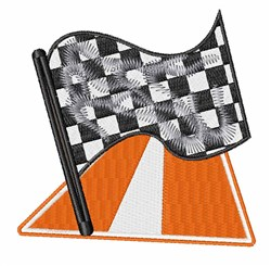Race Flag embroidery design