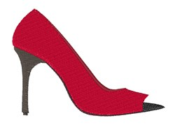 High Heel Shoes embroidery design