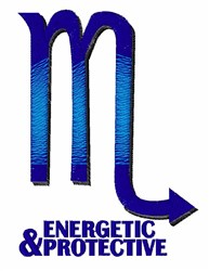 Energetic & Protective embroidery design