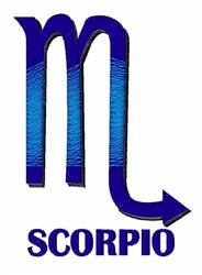 Scorpio embroidery design