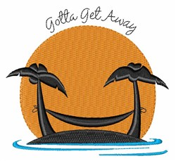 Get Away embroidery design