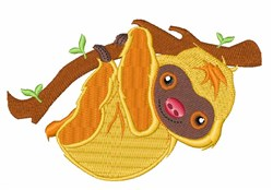 Tree Sloth embroidery design