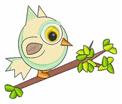 Owl In Tree embroidery design