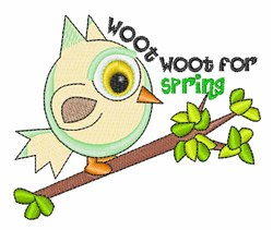 Woot For Spring embroidery design