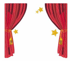 Stage Curtain embroidery design