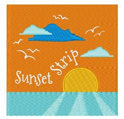 Sunset Strip embroidery design