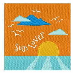 Sun Lover embroidery design