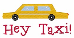 Hey Taxi embroidery design