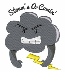 Storms A Comin embroidery design