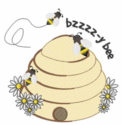 Bzzy Bee embroidery design