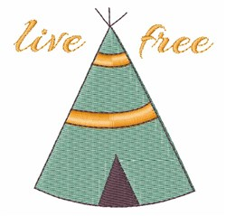 Live Free embroidery design