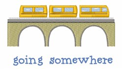 Going Somewhere embroidery design