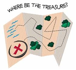 Where Treasure embroidery design
