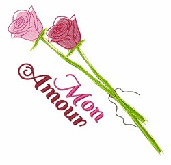 Mon Amour embroidery design